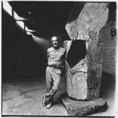 Isamu Noguchi with Brilliance, 1986