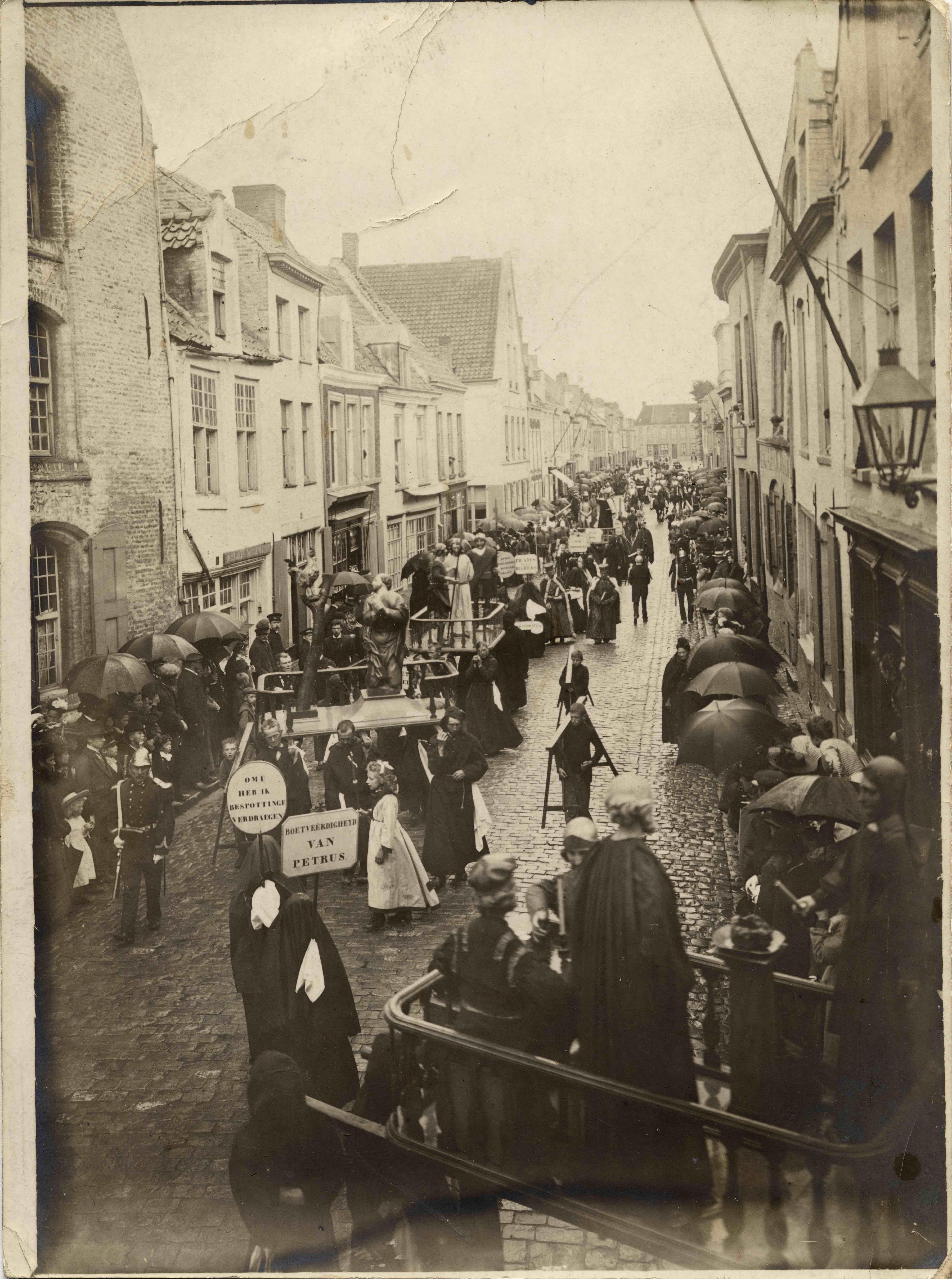 Religious parade in Belgium