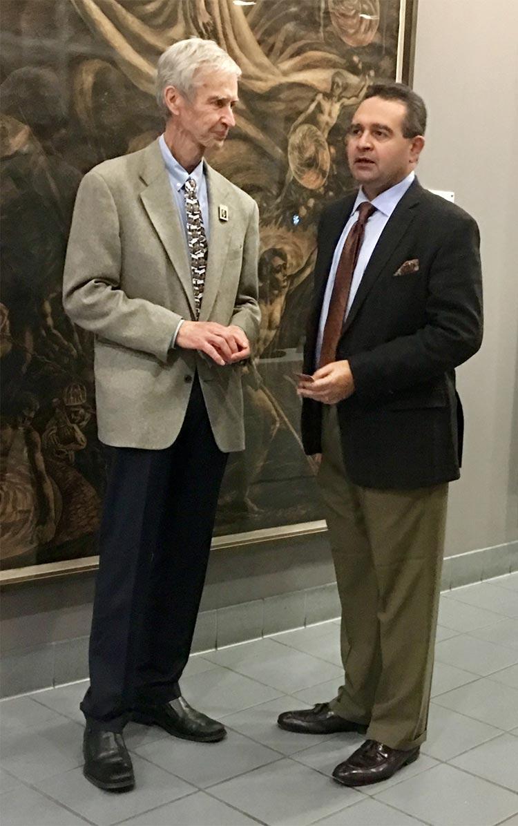 Hugh Karraker with Professor Magued Iskander, PhD, PE, F.ASCE Chair of Civil & Urban Engineering