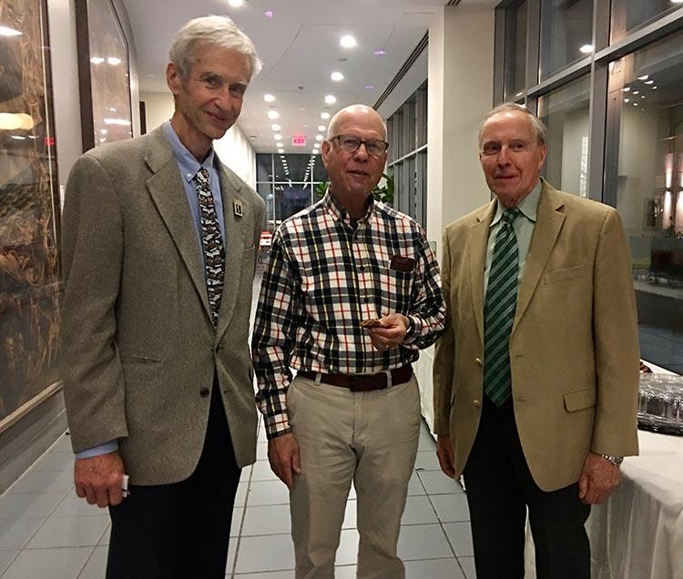 Hugh with Professor Emeritus Dr. Mark Green and Dr. Louis Pilato