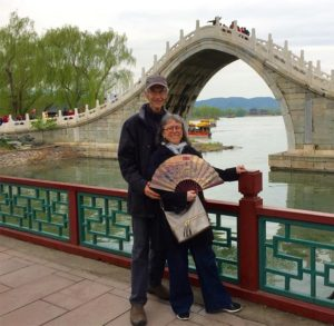 Hugh and Sherry at the Summer Palace